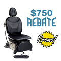 $300 to $750 Rebate on Select Midmark Power Chairs